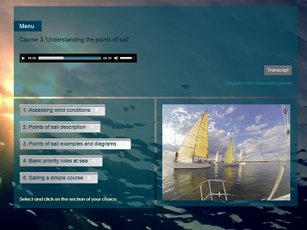 Learn to sail Course 3 Understanding the points of sail Menu