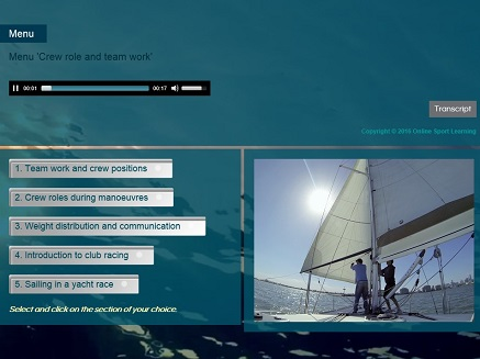 Learn to sail Course 6 Crew roles and yacht racing Menu