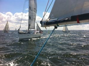 Main sail open
